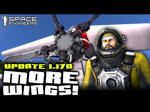 Space Engineers - Plane Parts Mod & Messing with Aerodynamics (Update 1.170)