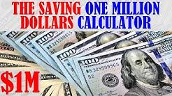 The Saving 1 Million Dollars for Retirement Calculator