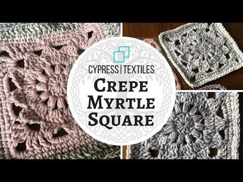 VVCAL 2018 Week 3 Crochet Motif: Crepe Myrtle Square