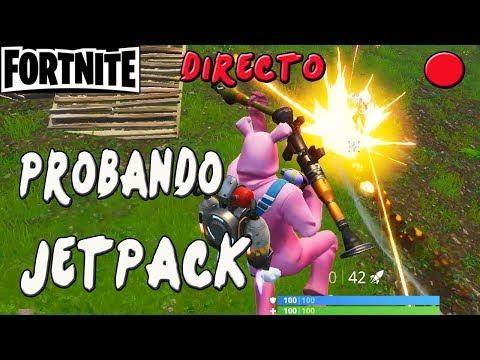 PRIMERAS BAJAS CON EL JETPACK!! | FORTNITE EN DIRECTO | Gameplay Español