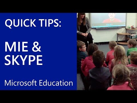 The Microsoft Educator Community: The MIE Program and Skype in the Classroom