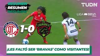 Resumen Toluca 1   0 FC Juárez | Liga MX Femenil   Apertura 2019   Jornada 10 | TUDN