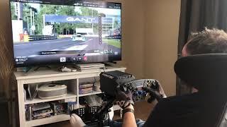 Zapętlaj Test Fanatec Direct Drive Podium Racing Wheel PS4 (GTSport) | Laurent_X GTS