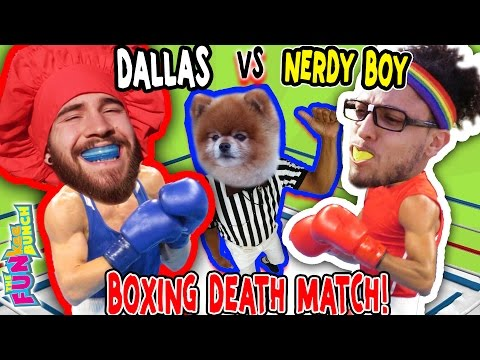 WWE STYLE FIGHT UNDERTAKER NEEDED IN THE RING OF DEATH!! w/ Dallas the Pizza Guy & Nerdy Boy