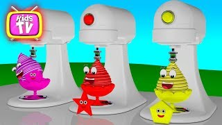 Learn - coloring Ice Cream. 3D Cartoons for children Video for kids