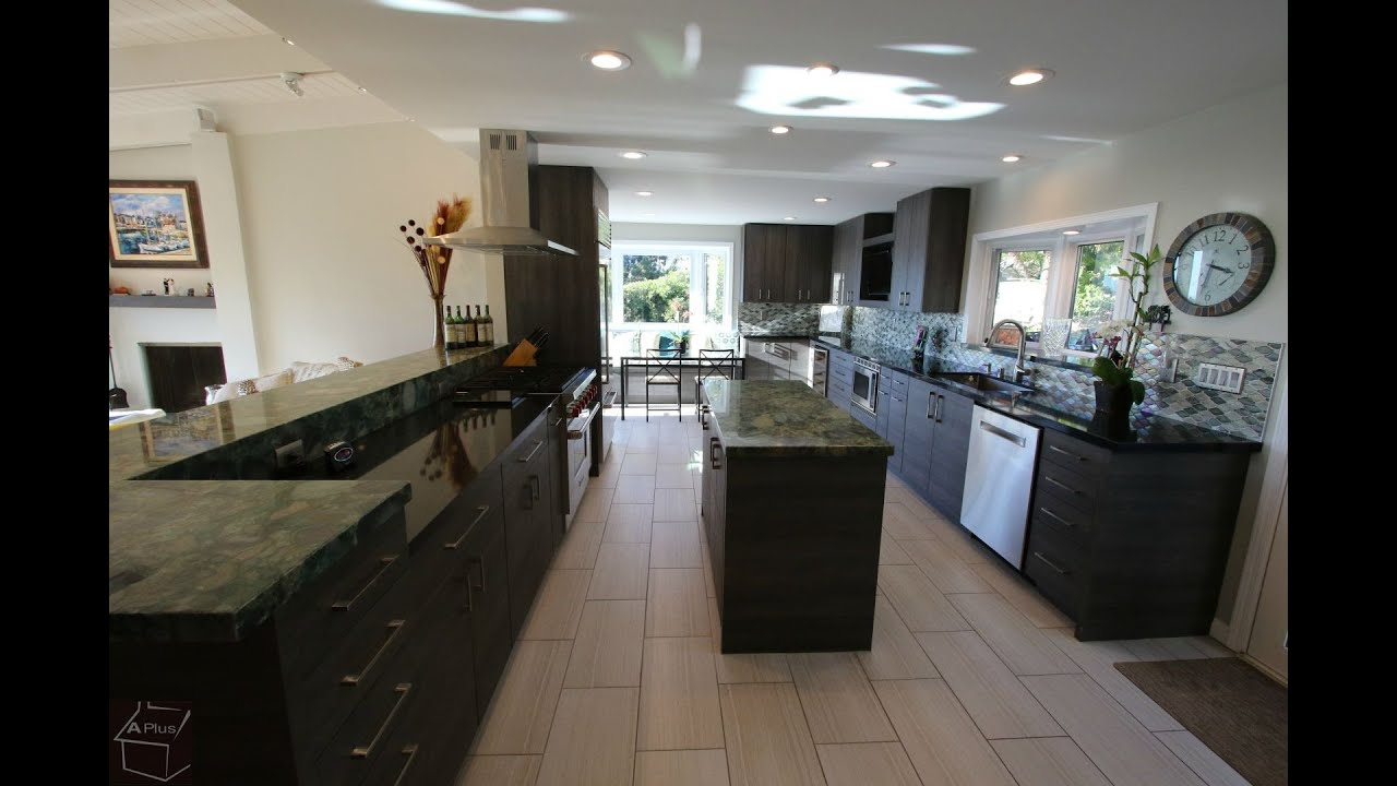 Modern Contemporary Kitchen Remodel In Laguna Beach Orange County By Aplus Interior Design Youtube