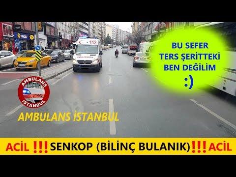 Ters Şeritte Başka AMBULANS ile Karşılaştık. Ambulans İstanbul  Ambulance Turkey