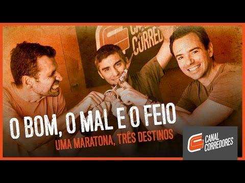 O bom, o mal e o feio. Uma maratona, três destinos.