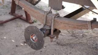 Замена рессорной оси со ступицами 5х139.7 на прицепе кухни УАЗ