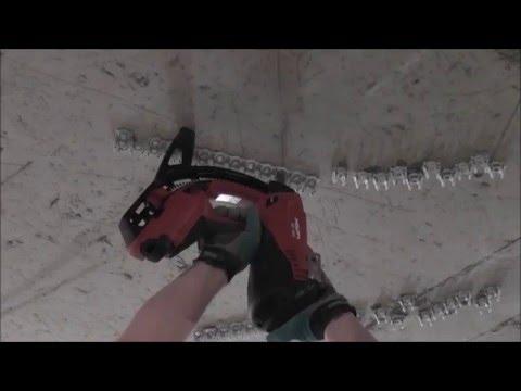 Монтажный пистолет Hilti GX120. Способ крепления в неоднородный базовый материал.