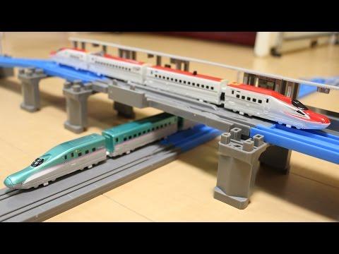 プラレールアドバンス E6系新幹線 連結&立体交差レールセット