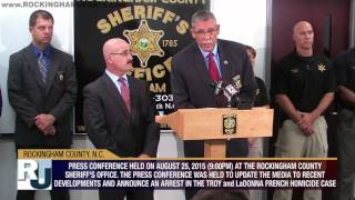 Aug. 25, 2015 - Press Conference - Update - 2012 Troy And Ladonna French Homicide Investigation