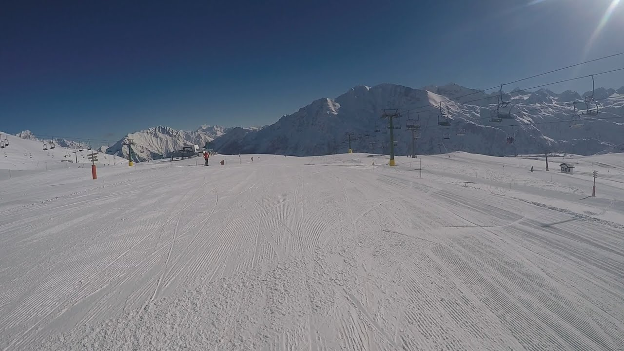 Gopro hero4: skiing - la thuile (run 11)