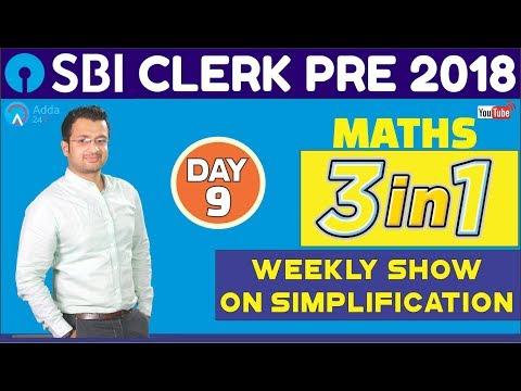 SBI CLERK PRE 2018 | Weekly Show On Simplification | Maths Tricks