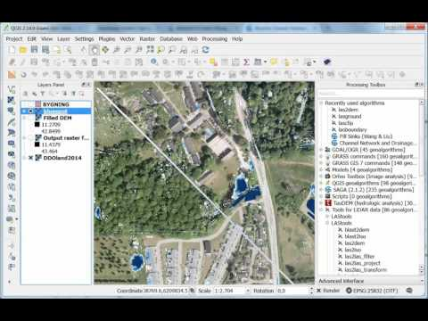 Point Cloud to Bluespot, Stream and Drainage Basin (Catchment Area)