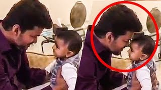 LATEST: Thalapathy Vijay's SUPER CUTE VIDEO playing with a BABY | #Sarkar