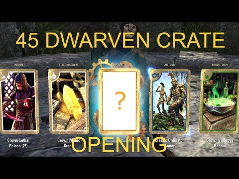 ESO - 45 Dwarven Crown Crate Opening