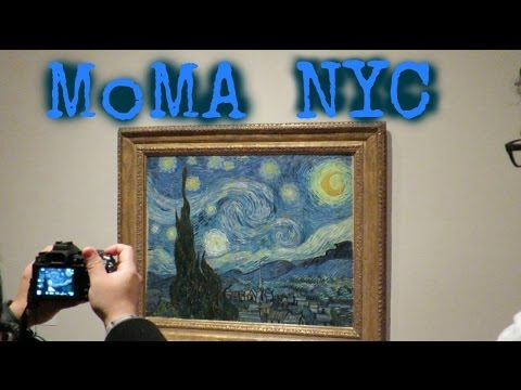 MoMA (Museum of Modern Art) NYC with Dali and Van Gogh
