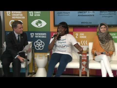 In Discussion with Youth Refugees