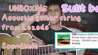 D'Addario EZ890 Acoustic Guitar string | Unboxing + sound test