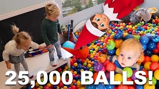 INCREDIBLE BALL PIT PRANK BY ELF ON THE SHELF!