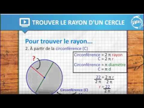 comment calculer un rayon