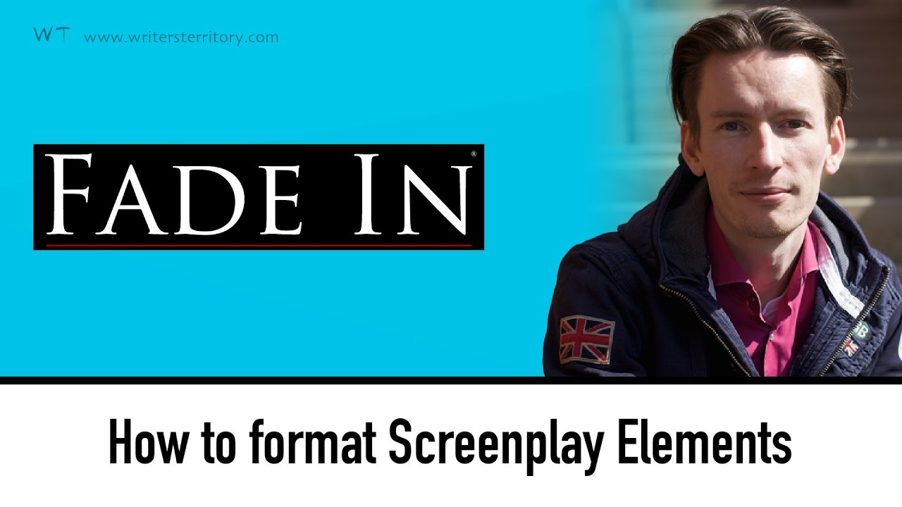 how to use screenplay formatting elements in fade in youtube