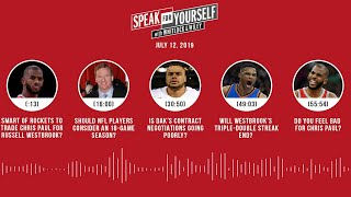 SPEAK FOR YOURSELF Audio Podcast (7.12.19) with Marcellus Wiley, Jason Whitlock | SPEAK FOR YOURSELF