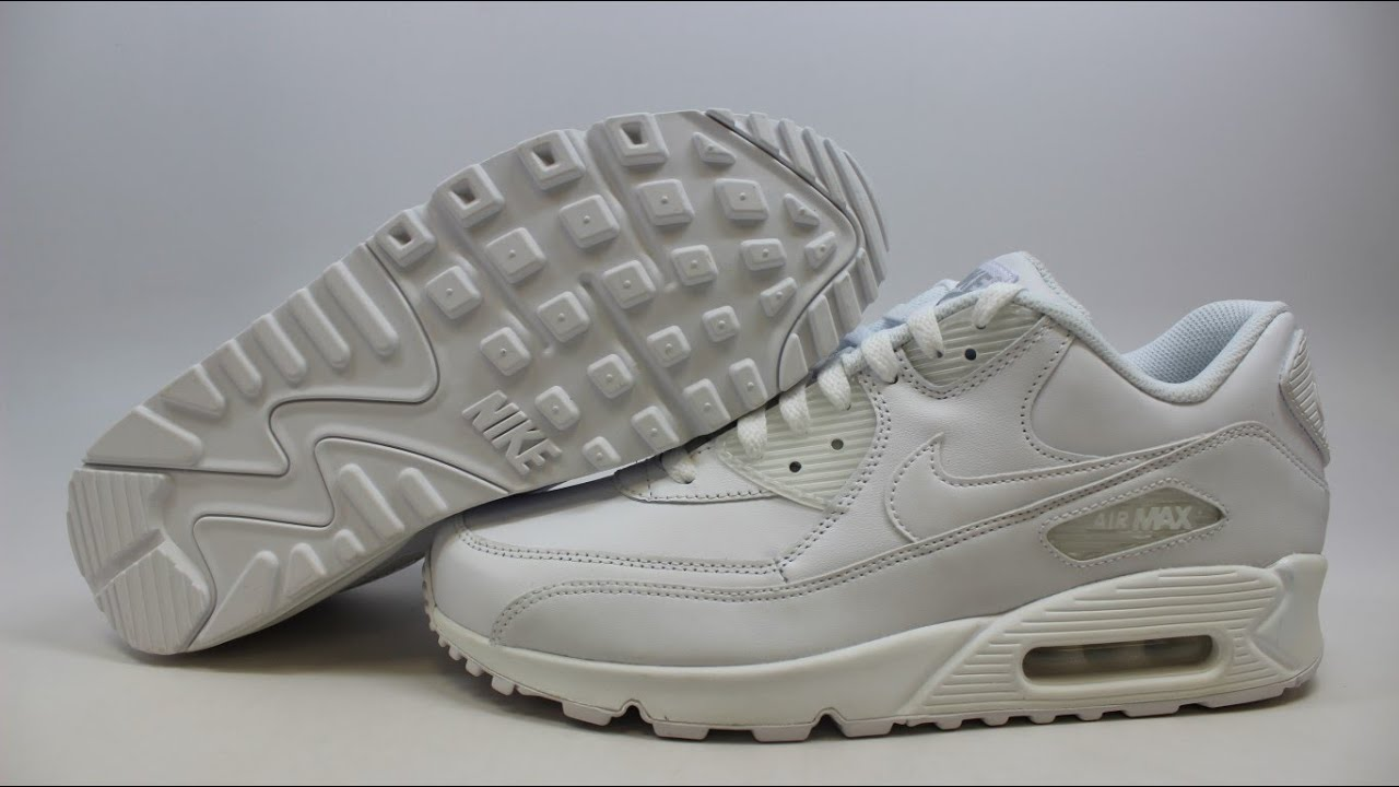 nike air max 90 white mens leather