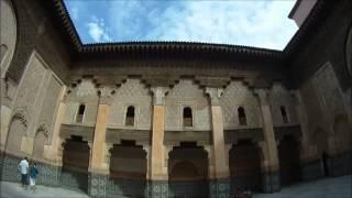 Marrakech, Morocco Ben Youssef Madrasa   مراكش - مدرسة بن يوسف  GoPro (Part 1)