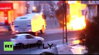 Turkey: Tear gas, water cannon used in clashes at pro-Kurdish demo in Istanbul