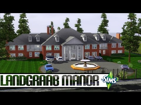 The Sims 3 CAW House Speed Build - Landgraab Manor