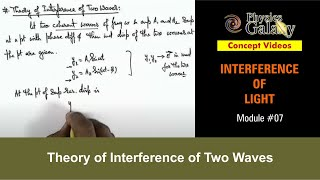 7. Physics | Interference | Theory of Interference of Two Waves | by Ashish Arora