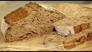 ПШЕНИЧНО - РЖАНОЙ ХЛЕБ с солодом - Карельский Заварной на закваске в духовке - Рецепт бездрожжевой