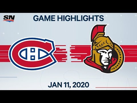 NHL Highlights | Canadiens Vs Senators - Jan. 11, 2020