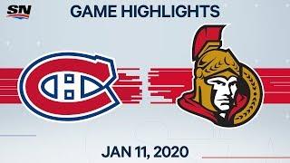 NHL Highlights   Canadiens vs Senators - Jan. 11, 2020