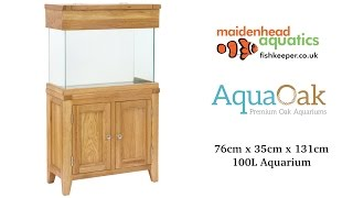 Aqua Oak 76cm 'Two Doors' Aquarium and Cabinet
