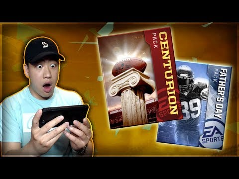100 ELITE PLAYERS IN 1 PACK!! MADDEN MOBILE 18 CENTURION, FATHER'S DAY & NFL BOSSES PACK OPENING!!