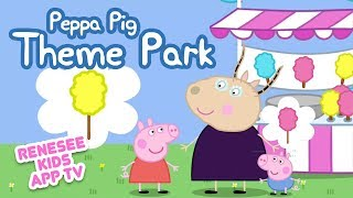 Learn Colors & Numbers with Peppa Pig Theme Park