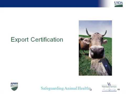 Dr. Kellie Hough - Export Certification of Life Animal Commodities
