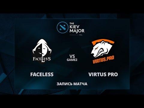 Faceless vs VirtusPro, Game 2, The Kiev Major Group Stage