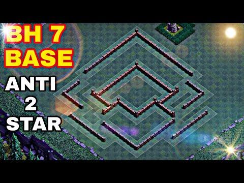 Best BH 7 (Builder Hall 7) Base 2019 Design Anti 1 Star Anti 2 Star Anti All Coc | Clash Of Clans