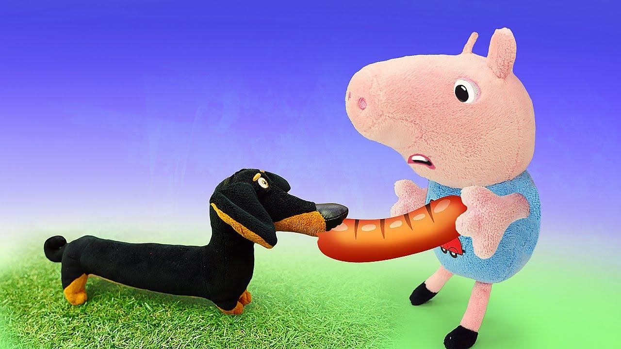 Papa Pig prépare un barbecue pour sa famille. Jeux pour enfants avec Peppa pig.