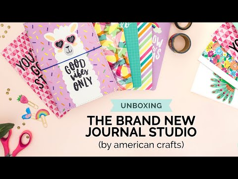Unboxing the NEW Journal Studio Planner Line by American Crafts (Stationery, Traveler's Notebook)
