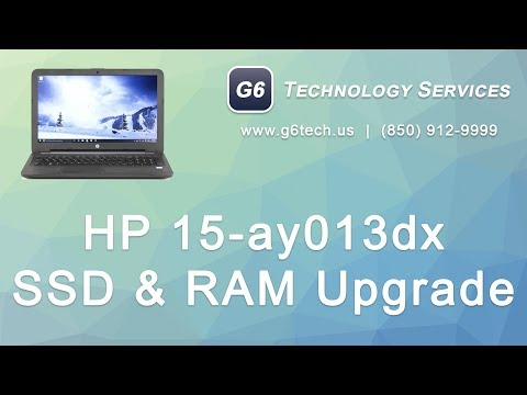 HP 15-ay013dx SSD And RAM Upgrade With Data Transfer