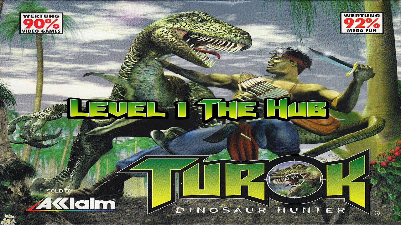 nintendo 64 turok dinosaur hunter level 1 the hub part 1 of 2 youtube
