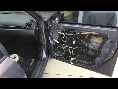 MAZDA 3 2009 Front Passenger Side Door/window Panel Removal / Bad Motor