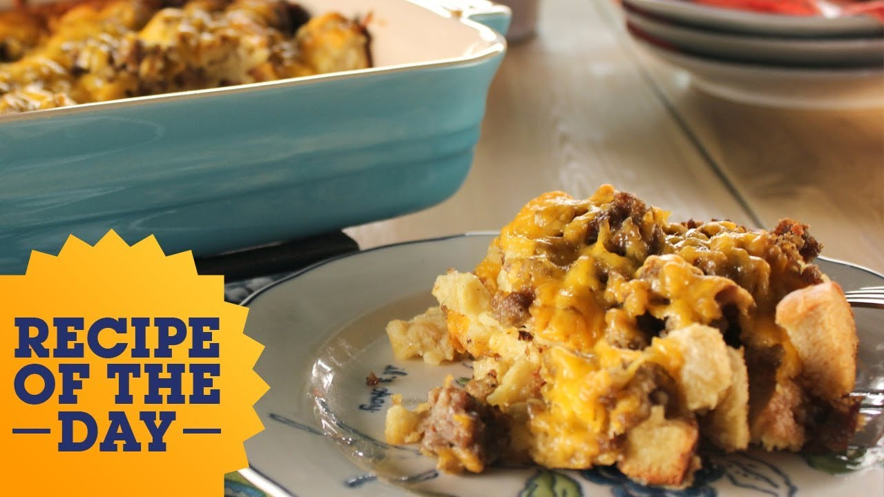 Recipe of the day breakfast sausage casserole food network youtube recipe of the day breakfast sausage casserole food network forumfinder Gallery