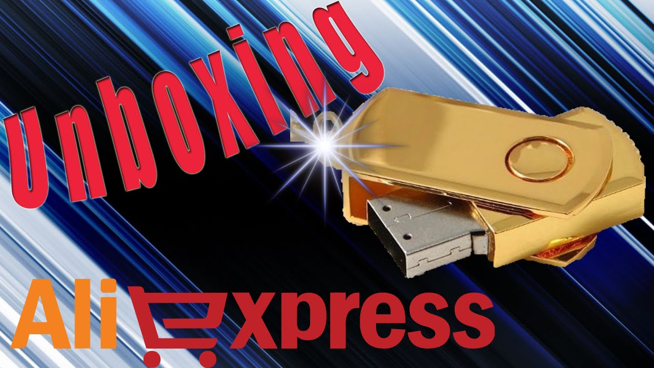Unboxing Aliexpress Pen Drive 2 TB Ouro