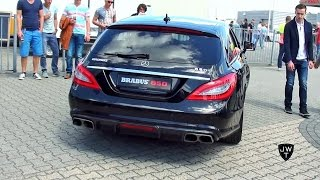 850HP(!) Mercedes-Benz BRABUS CLS 850 Shooting Brake 6.0 BiTurbo LOUD On Track Exhaust SOUNDS!